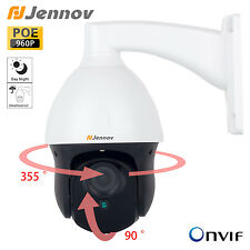 Jennov 960P 3x Zoom POE PTZ Security IP Camera Outdoor Pan Tilt  IR ONVIF Video