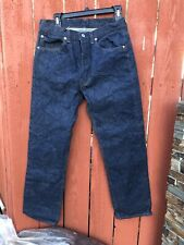 Vintage Levis 501 -0000 Jeans Usa Made Red Tab 32+ X 31+ 70-80s Wow/1 wAsh