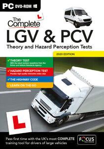 LORRY BUS LGV PCV HGV THEORY TEST AND HAZARD PERCEPTION TEST PC DVD CD 2021 BOX