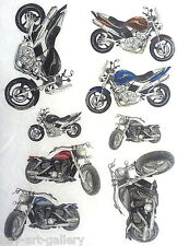 Rice Decoupage Paper / Decoupage Sheets  / Scrapbooking / MOTORCYCLE 2 / Craft