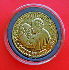 Pope John Paul II The People's Pope US Pilgrimage Medallion October 1979 In Case