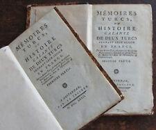 CLAUDE GODARD D'AUCOURT MEMOIRES TURCS OU HISTOIRE GALANTE DE DEUX TURCS.. 1772