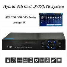 Hybrid 1080P/960P IP CAMERA 8CH NVR AHD/TVI/CVI/IP/Anolog AUDIO HDMI OUT DVR