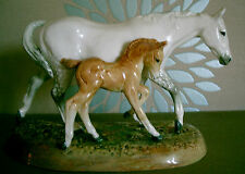 ROYAL DOULTON HORSE GUDE MARE & FOAL No. HN 2532 DAPPLE GREY CHESTNUT RARE