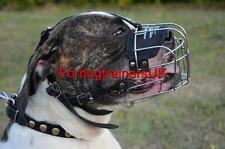 American Bulldog Muzzle Basket | Wire Dog Muzzle for Bulldog Size