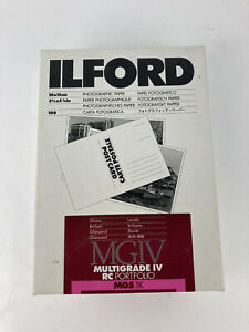 Ilford 3 7/8 x 5 7/8 inch Glossy Photographic Paper Multigrade IV RC 07A501 NOS