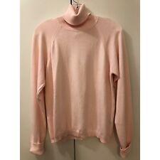Talbots Women's Pink Cotton Turtleneck Sweater Size Small NWT $40