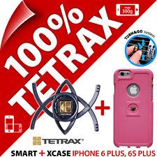 Tetrax Lote para Iphone 6 Plus /6s Plus Smart en Coche Holder+ Xcase Funda Rosa