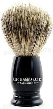 DR HARRIS 8.5cm Pure BADGER BRISTLE S1 Travel Size SHAVING BRUSH | Ebony