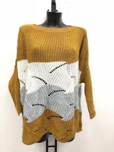 Damen Pullover  Tunika  Kleid Strick Einheitsgröße 38/40/42