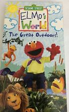 Sesame Street Elmos World The Great Outdoors Vhs Movie Tape VCR 2003-TESTED-RARE