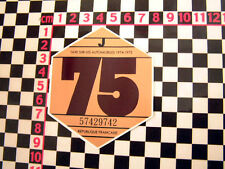 Disque de taxe de France 1975-CITROEN 2CV DYANE HY van DS AMI 8 RENAULT 4CV 4 h ripple