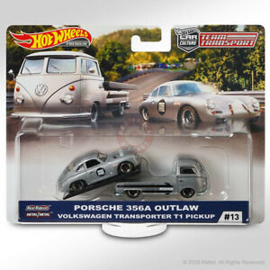 "Hot Wheels TEAM TRANSPORT Mix E #13 PORSCHE 356A OUTLAW & VW T1 PICKUP ""MOMO"""