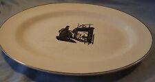 """Harker Pottery Bakerite Silhouette 12"""" Oval Platter"""