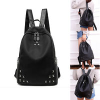 Women PU Leather Backpack Handbag School Satchel Shoulder Bag Camping Rucksack