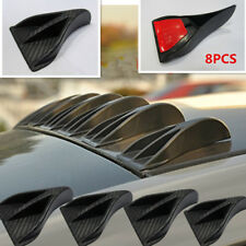 8xCarbon Fiber Style Vortex Generator Shark Fin Spoiler Wing For Car Roof Trunk