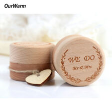 Wooden Ring Bearer Box Custom Rustic Wedding Ring Box Mr Mrs We Do Pillow Box