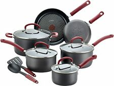 T-fal Ultimate Hard Anodized Dishwasher Safe Nonstick Cookware Set, 12-Piece, Re
