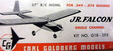 Vintage JR. FALCON Goldberg's PLAN for an Early-Days-of-RC 1/2A Model Airplane
