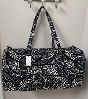 Vera Bradley Paisley Noir XL Traveler Duffel Bag Tote Luggage - NWT MSRP $135