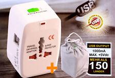 ADATTATORE CORRENTE SPINA 2 USB TRAVEL CARICABATTERIA DA RETE VIAGGIO UNIVERSALE