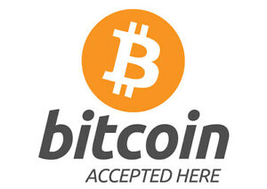 Notice Sign Gloss Vinyl Decal Directive Bitcoin Accepted Here