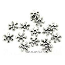 25 Intercalaires spacer Flocon de neige 10x9x2mm Perles apprêts créa bijoux A379