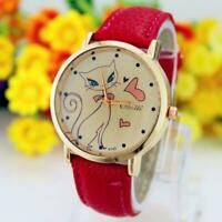 New Fashion Women Casual Watches Cat Brand Exquisite Leather ladies woman watch