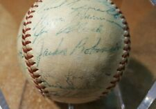 1953 National League All Star team signed baseball Jackie Robinson JSA autograph