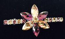 Austrian Crystal Flower Hair Clip Barrette Hairpin Clamp Hair Pin