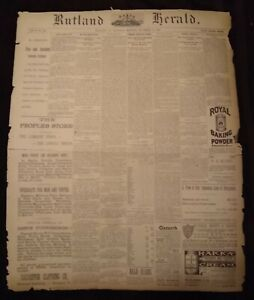 Vintage Newspaper November 10, 1888, Jack the Ripper's Final Victim Found! Rare!