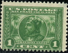 #397 1913 1-cent green Panama-Pacific Mlh