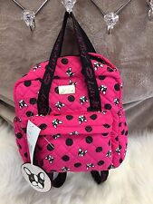 NEW! Betsey Johnson French Bulldog Backpack Bag Quilted Pink & Black Frenchie