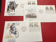 #2258 #2263 #2366 FDC 1988 Fleetwood Cable Car Patrol Wagon Tandem Bicycle
