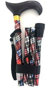 Baston andador, walking save cane. Batón plegable ajustable, estilo escocés.