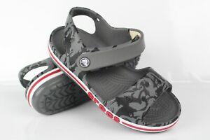 Crocs Kids' Toddler Bayaband Printed Sandals Size c6 Grey Red 206262