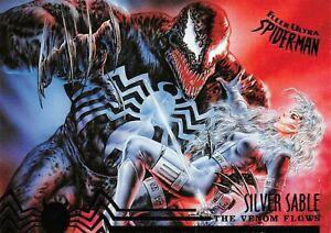 VENOM AND SILVER SABLE / Spider-Man Fleer Ultra 1995 BASE Trading Card #107