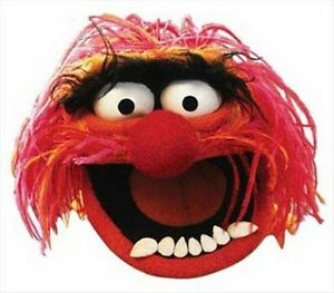 Animal from The Muppet Show Official Single Fun Disney CARD Party Face Mask