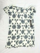 Luxology Women's White Patterned Off Shoulder Dress, Size 6