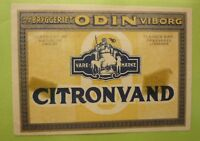 OLD SOFT DRINK CORDIAL LABEL, 1950s ODIN BRYGGERIET VIBORG DENMARK CITRONVAND 2