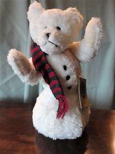 """Boyd SnowMan Teddy Bear Jb Bean Assoc Stuffed Animal 1985 Retired 11"""" Vintage"""