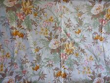 coupon tissu textile ameublement imprimé fleurs vintage TACO années 80 au mètre