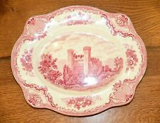 "15"" Serving Platter Old Britain Castles Pink Crown Made England Johnson Bros"