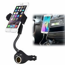 iPhone 11, Pro, Max CAR MOUNT CHARGER SOCKET HOLDER EXTRA 2-PORT USB DOCK CRADLE