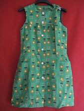Robe été à Fleurs Verte Vintage Femme Années 70 Ancien dress - 38