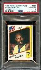 1986 Panini Supersport Italian #144 Marvin Hagler PSA 8 NM-MT