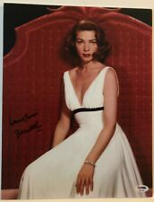 "Lauren Becall (1924-2014) Signed 11X14 Photo ""The Big Sleep"" Psa Dna Coa"