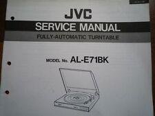 JVC AL-E71BK giradischi Servizio Manuale diagramma di cablaggio Parti Riparazione Manutenzione