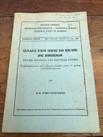 indonesian - english & vice a versa - terms of geology and related sciences 1965