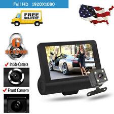 Car DVR Dual Lens Dash Cam G-sensor Front Rear Video Recorder Camera 1080P 4